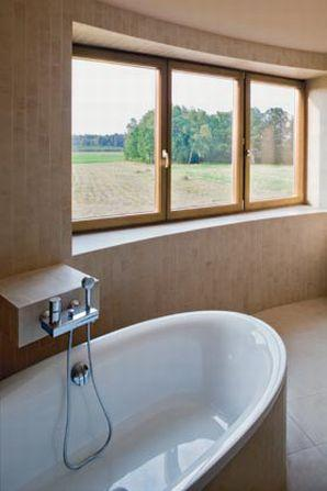 Łazienka w domu na planie koła