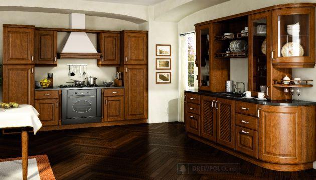 Galeria zdjęć  Kuchnia klasyczna zaklęta w drewnie   -> Klasyczna Kuchnia Z Jadalnią