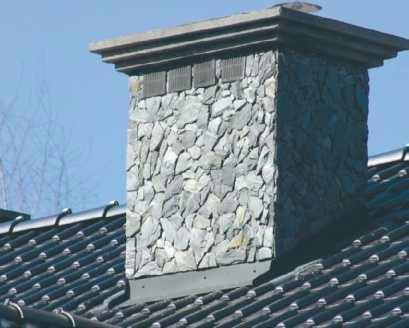 Okładzina kominowa z płytek kamiennych