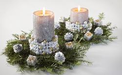 Dekoracje wigilijnego stołu. Elegancki świecznik do stroika świątecznego ZRÓB TO SAM
