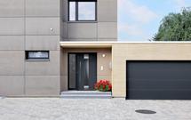 Segmentowe bramy garażowe - GALERIA elewacji domów