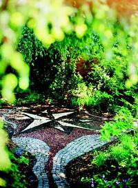 Mozaika kamienna - wzór gwiazdy
