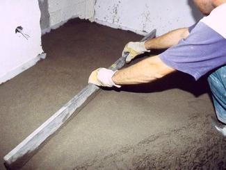 Wylewka: podkład cementowy